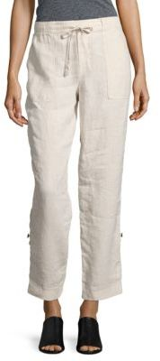 Lord & Taylor Roll-Up Linen Pants $94 thestylecure.com