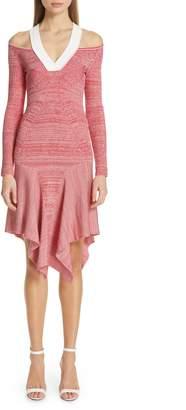 Yigal Azrouel Cutout Melange Knit Dress