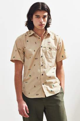 Chums Happy Camper Short Sleeve Button-Down Shirt