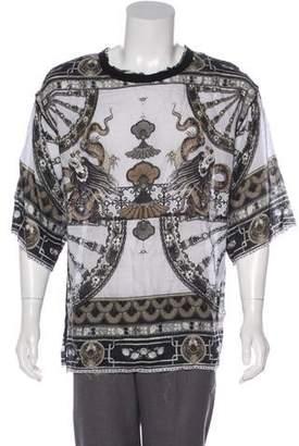 Dolce & Gabbana Printed Linen T-Shirt w/ Tags