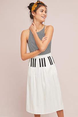 Samantha Pleet Pleated Piano Midi Skirt