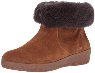 FitFlop Women's SKATEBOOTIE Suede Boots with Shearling Ankle