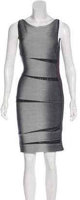 Herve Leger Ombré Bandage Dress Grey Ombré Bandage Dress