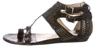 Jimmy Choo Python Studded Sandals