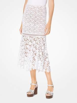 MICHAEL Michael Kors Mixed Floral Lace Skirt