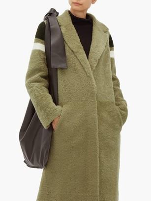 Inès & Marèchal Striped Shearling Coat - Womens - Green Multi