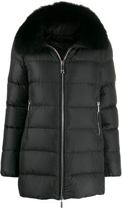 Moorer fur collar coat