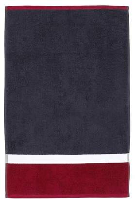 Pottery Barn Teen Color Block Hand Towel, Navy/Red
