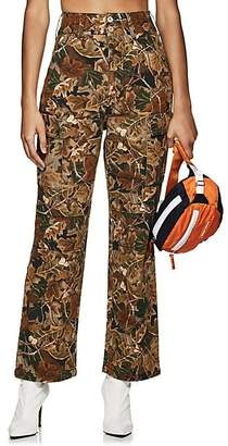 Heron Preston Women's Camouflage Cotton Cargo Pants