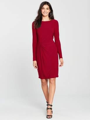 Wallis Tucked Jersey Shift Dress - Red