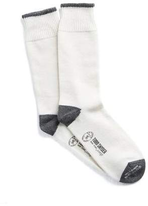 Corgi Cashmere Socks in Cream White