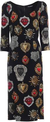 Dolce & Gabbana Elbow Lenght Sleeves Cay Dress