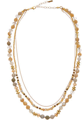 Chan Luu 18K Over Silver Gemstone, Mother-Of-Pearl, & Crystal Necklace
