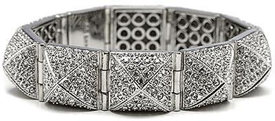 Cc Skye Pave Pyramid Stud Bracelet