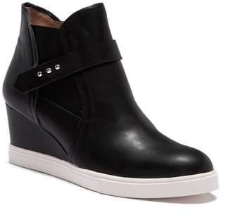 Linea Paolo Freshton Leather High-Top Wedge Sneaker