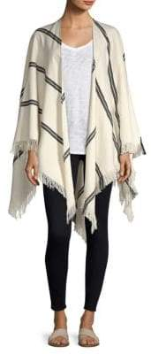 Eileen Fisher Striped Organic Cotton Poncho