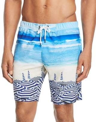 Sovereign Code Beach-Print Swim Trunks