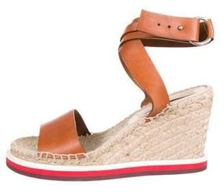Stella McCartney Vegan Leather Espadrille Wedges