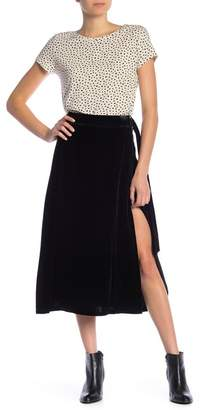 Frame Velvet D-Ring Wrap Skirt