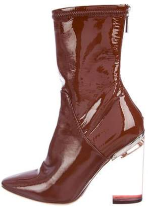 Christian Dior Patent Leather Ankle Boots Brown Patent Leather Ankle Boots