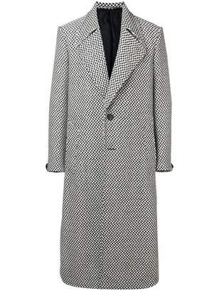 Givenchy long single breasted coat