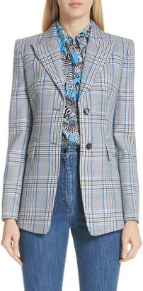 Michael Kors Plaid Pressed Wool Blazer
