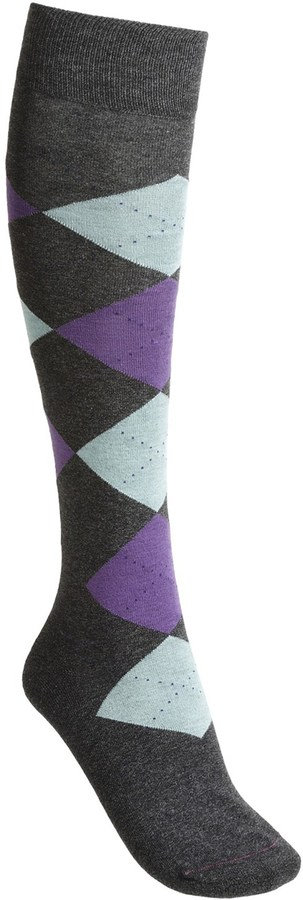 Pantherella Fancy Argyle Socks - Lightweight, Knee High  (For Women)