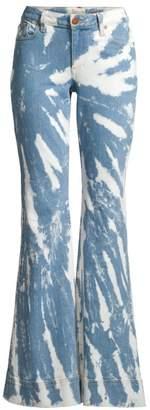 Alice + Olivia Jeans Beautiful Tie-Dye Bell Bottom Jeans