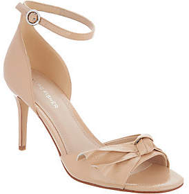 Marc Fisher Ankle Strap Pumps with Bow Detail -Brodie