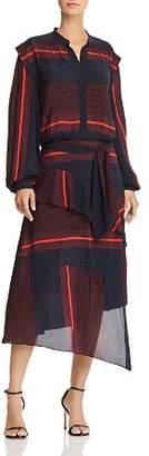 Joie Roz Striped Midi Dress