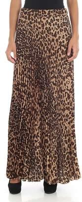 P.A.R.O.S.H. Leopard Pleated Skirt