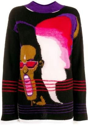 Marco Rambaldi Grace Jones print jumper