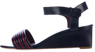 CelineCéline Leather Wedge Sandals