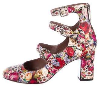 Tabitha Simmons Floral Round-Toe Pumps