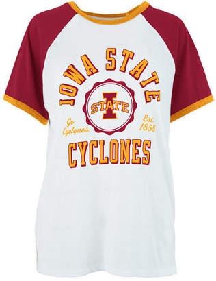 Royce Apparel Inc Women's Iowa State Cyclones Short Sleeve Raglan T-Shirt