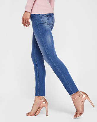 Ted Baker AACIEE Mid-wash raw hem skinny jeans