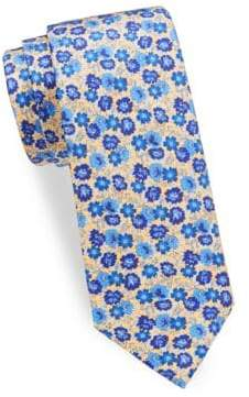 Saks Fifth Avenue Bold Flower Silk Tie