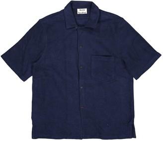 Acne Studios Navy Cotton Polo shirts