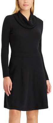 Chaps Women's Cowlneck Sweater Dress