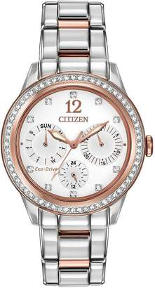 Citizen Eco-Drive Silhouette Crystal Swarovski® Crystal-Set Bracelet Ladies Watch