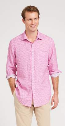 J.Mclaughlin Gramercy Classic Fit Linen Shirt in Pom Pom