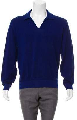 Tom Ford Woven Long Sleeve Polo