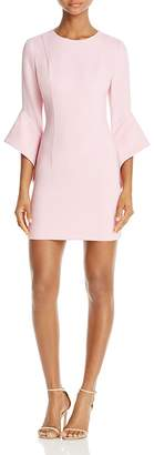 Black Halo Lorie Bell-Sleeve Mini Dress $345 thestylecure.com
