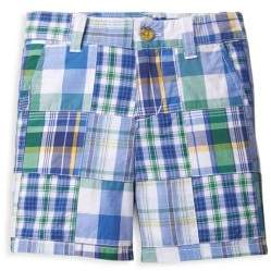 Janie and Jack Toddler's, Little Boy's & Boy's Plaid Patchwork Shorts