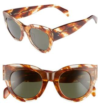 Celine Special Fit 50mm Cat Eye Sunglasses