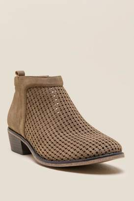 Restricted Nevada Perforated Ankle Boot - Tan