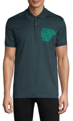 Versace Crest Cotton Polo