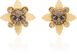 Nicole Romano 18K Gold-Plated Star Crystal Stud Earrings