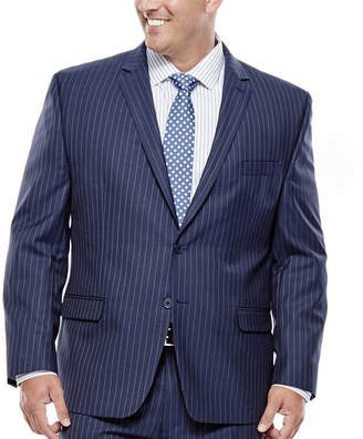 COLLECTION Collection by Michael Strahan Striped Navy Suit Jacket - Big & Tall