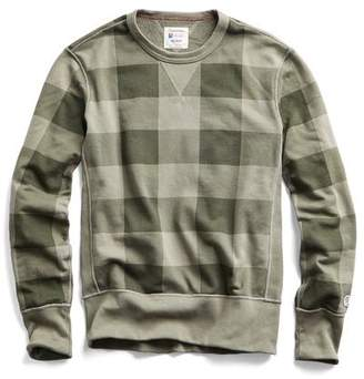 Todd Snyder + Champion Buffalo Check Sweatshirt in Dark Driftwood